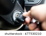 car key on wood background | Shutterstock . vector #677530210