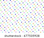colorful seamless polka dots... | Shutterstock . vector #677535928