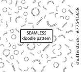vector seamless pattern. hand... | Shutterstock .eps vector #677541658