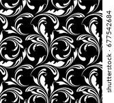 floral seamless pattern. swirls ... | Shutterstock .eps vector #677542684