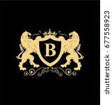 Letter B Elegant Logo With Two...