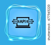 computer api interface icon ... | Shutterstock .eps vector #677565220