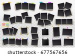 big set of square vector photo... | Shutterstock .eps vector #677567656