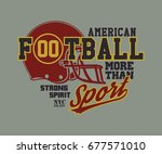 football helmet stylized vector ... | Shutterstock .eps vector #677571010