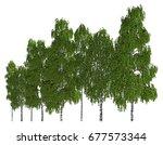 3d illustration trees row...   Shutterstock . vector #677573344