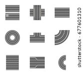 road constructor icons set.... | Shutterstock .eps vector #677601310