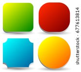 badge  button  banner set in 4... | Shutterstock . vector #677613814