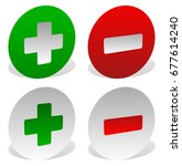 green  red plus  minus sign... | Shutterstock . vector #677614240