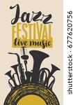 template poster for jazz... | Shutterstock .eps vector #677620756