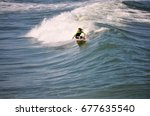 Surfer Carving A...