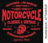 california vintage motorcycle ...   Shutterstock .eps vector #677636419