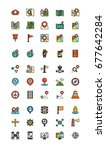 navigation lineal color icon... | Shutterstock .eps vector #677642284