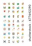 navigation flat icon set vector | Shutterstock .eps vector #677642290