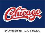 chicago logo lettering in style ...   Shutterstock .eps vector #677650303