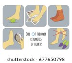 illustration of foot care in... | Shutterstock .eps vector #677650798