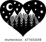 night forest in the background... | Shutterstock .eps vector #677652658