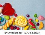 sweets   candies  marmalade ... | Shutterstock . vector #677653534
