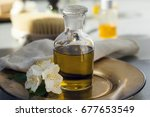 the base oil with essential... | Shutterstock . vector #677653549