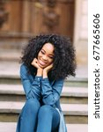 young african american girl in... | Shutterstock . vector #677665606
