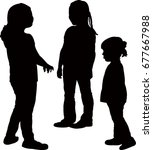 friends together  silhouette... | Shutterstock .eps vector #677667988