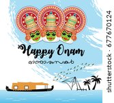 Happy Onam Vector Illustration...
