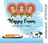 happy onam vector illustration... | Shutterstock .eps vector #677670124