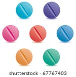 vector set of colorful pills | Shutterstock .eps vector #67767403