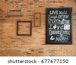 message on blackboard and... | Shutterstock . vector #677677150