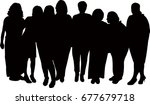 a family portrait silhouette... | Shutterstock .eps vector #677679718
