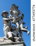 sculptures of little angels who ...   Shutterstock . vector #677693776