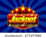 advertising signboard casino in ... | Shutterstock .eps vector #677697880