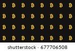 bitcoin straight pattern... | Shutterstock . vector #677706508