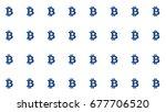 bitcoin straight tiling pattern ... | Shutterstock . vector #677706520