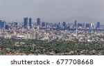 aerial view of mexico city with ... | Shutterstock . vector #677708668
