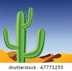 Vector Cactus In Desert