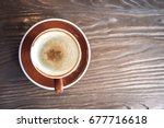 empty coffee cup after drinking ... | Shutterstock . vector #677716618