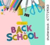 back to school banner design...   Shutterstock .eps vector #677719063