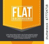 black yellow simple modern flat ... | Shutterstock .eps vector #677724718