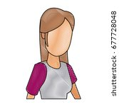 portrait woman character female ...   Shutterstock .eps vector #677728048
