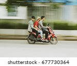 jakarta  july 14  2017   unsafe ... | Shutterstock . vector #677730364