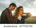 attractive outdoor portrait of... | Shutterstock . vector #677731750
