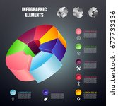 pie infographics. can be used... | Shutterstock .eps vector #677733136