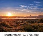 Sunset On Loch Lomond And Ben...