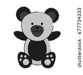 bear or cute stuffed animal...   Shutterstock .eps vector #677734333