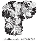 tattoo design for upper arm to... | Shutterstock .eps vector #677747776