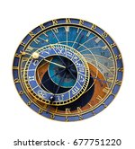 Old Astronomical Clock Isolate...