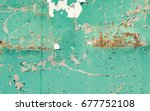 texture of rusty metal sunset | Shutterstock . vector #677752108