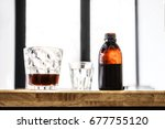 filter cold brew coffee bottle... | Shutterstock . vector #677755120