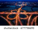 aerial  late evening view on... | Shutterstock . vector #677758690