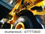 yellow mining truck  | Shutterstock . vector #677772820
